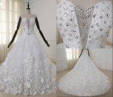 Высокое качество роскошь рельефная шарик длинного хвоста свадебные платья