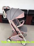 De Wandelwagen van de Baby van de Legering van het aluminium A8 met trekt Staaf