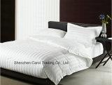 Van het Katoenen 300tc van 100% Reeks de Gestreepte Witte TextielBeddegoed van het Hotel