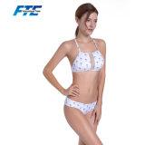 Concevoir les vêtements de bain matériels en nylon de bikini avec fin