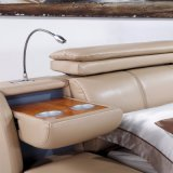 機能ヘッド現代本革のベッドFb3073