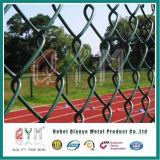 農場のゲートの/Basketballフィールドのためのフラットバーが付いているLinkeのチェーン塀