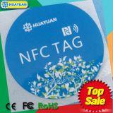 Escritura de la etiqueta de encargo del papel de la viruta NFC de la impresión NTAG213 de la insignia