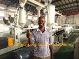 Máquina plástica confiable de la protuberancia del tubo del PVC del doble