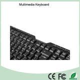 Späteste ergonomische USB-Multimedia imprägniern Tastatur (KB-1688M-B)
