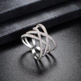 Boucle de mariage cubique plaquée par or réel respectueux de l'environnement de Zirconia