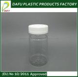botella plástica del animal doméstico del cilindro 175ml con el casquillo plástico