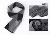 人の熱い冬のウールのナイロンアクリルの編まれた編まれたスカーフ(YKY4607)