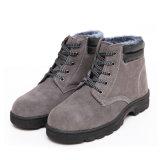 MEDIADOS DE zapatos de seguridad del cuero del ante del tobillo
