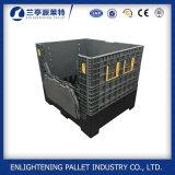 caixa de pálete plástica dobrável de 1200*1000*1000mm com portas da gota