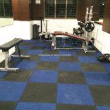 15mm厚いEPDM Crossfitの体操のゴム製床タイル
