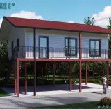 Casa de Bahay Kubo para el hogar prefabricado tropical de la estructura de acero del área