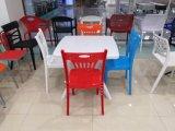Het Dineren van het Restaurant van het Schuim van de Stof van het Been Pu van het frame Plastic Stoel