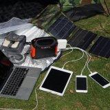 Gerador de energia solar para utilização exterior e interior com alça portátil