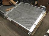 Refrigerador de petróleo hidráulico de alumínio da placa e da máquina escavadora da barra