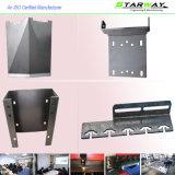 Peças elétricas revestidas personalizadas da fabricação de metal da folha da tabela do pó do OEM com estaca do laser da soldadura da precisão e ofício de serviço de dobra