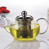 Teapot do vidro de Borosilicate com o potenciômetro do vidro de Infuser Pyrex do aço inoxidável