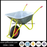 O zinco chapeou o Wheelbarrow concreto galvanizado Wb6404h do metal