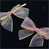 菓子の包装のためのワイヤーが付いているオーガンザのリボンの弓