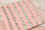 Il Rhinestone Chain di cristallo del reggiseno dei monili borda gli accessori della biancheria intima della cinghia di spalla