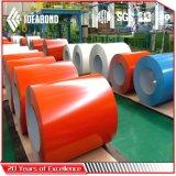 Bobine en aluminium enduite d'une première couche de peinture colorée d'Ideabond (polyester)