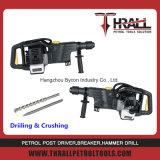 DHD-58 휘발유 손잡이 다기능 바위 드릴링 기계