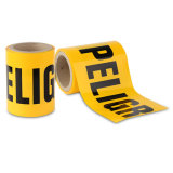 공장 공급 황색 색깔 PE 주의 테이프 경고 테이프