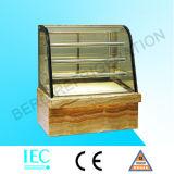 Охладитель индикации торта с регулируемыми стеклянными полками (4 слоя)