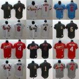 Ha personalizzato tutto il nome qualunque no. Qualsiasi pullover di baseball di Molina dei cardinali di St. Louis di marchio della squadra