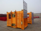 Double élévateur d'ascenseur de levage de cargaison de cage de GV 2t avec du ce