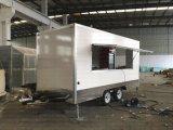 Imbiß bearbeitet Lebesmittelanschaffung-Schlussteil-mobile Schnellimbiss-LKWas für Verkauf maschinell