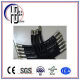 Boyau hydraulique en caoutchouc tressé de boyau de fil d'acier de qualité supérieure de vente directe d'usine avec la pression d'utilisation différente