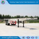 Nieuw Koolstofstaal 2/3 Aanhangwagen van de Container van het Skelet van Assen voor Vervoer van de Container 20/40FT