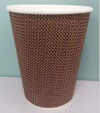 Venta caliente de papel corrugado taza de café con tapa