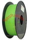 Bien enrollado, PLA verde de 3,0 mm de filamento de impresión 3D