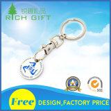 Metallo blu-chiaro Keychain nella figura circolare per il commercio all'ingrosso