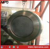 Tipo singola valvola di ritenuta dell'oscillazione del piatto (breve tipo) della cialda