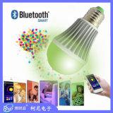 Keni nouvelle conception de l'ampoule LED RGBW Bluetooth Smart 7W avec contrôle de l'APP Android et Ios