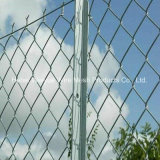 Galvanisierter Belüftung-überzogener Sicherheits-Metallzaun-Kettenlink-Zaun