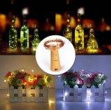 びんストッパーが付いている装飾のためのコルクのびんの銅LEDストリングライト