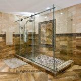 Verre trempé à faible teneur en fer pour écran de salle de bain