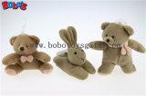 """jouet d'ours de nounours d'éducation de peluche de 6 """" Brown avec les chapeaux fous roses Bos1096"""