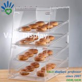 Boîte en bloc transparente acrylique à farine de fèves de sucrerie de supermarché