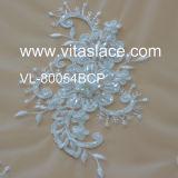 Appliques cinesi del merletto della fabbrica di larghezza di 16cm per l'abito di cerimonia nuziale Vf-007bc