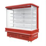 Vetrina aperta del frigorifero del dispositivo di raffreddamento della visualizzazione della cortina d'aria del fronte