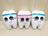 PU-Squishy langsamer steigender Spielwaren-Zahn-smiley geformt