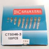 Connettore maschio del CCTV Solderless BNC con il caricamento del sistema lungo del metallo (CT5046-3)