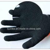 Терри труда с покрытием из латекса гильзы Защитные перчатки