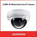 3MP 4Xによってモーターを備えられるレンズ180度鍋ネットワークIPのカメラ