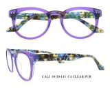 New Design Wholesale Bright Color Round Optical Frames Acetate Eyeglasses